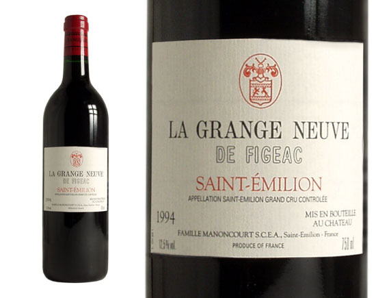 la grange neuve de figeac red 1994 saint emilion wine of bordeaux. Black Bedroom Furniture Sets. Home Design Ideas