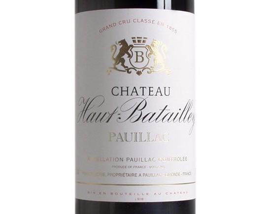 CHÂTEAU HAUT-BATAILLEY 2001