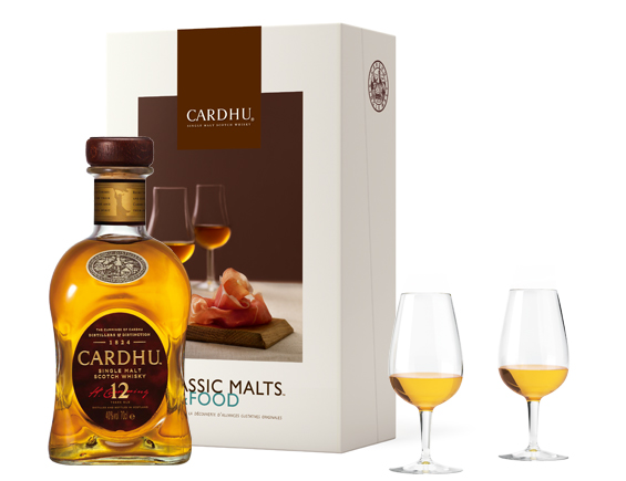 COFFRET MALTS AND FOOD WHISKY CARDHU 12 ANS