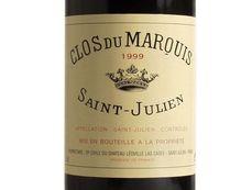 CLOS DU MARQUIS Rouge 1999, Second vin du Château Léoville Las Cases