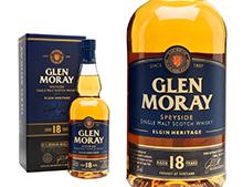 WHISKY GLEN MORAY 18 ANS COFFRET
