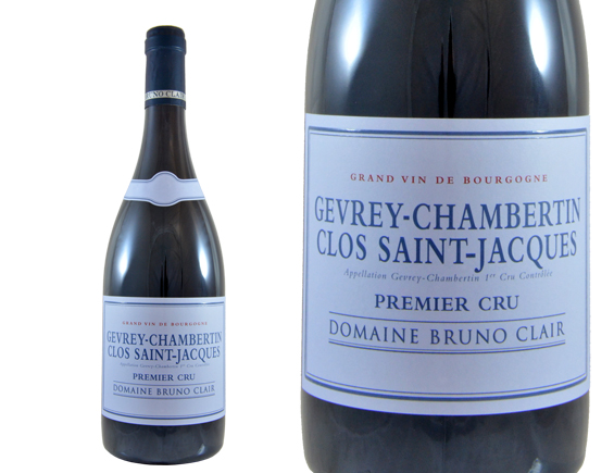 DOMAINE BRUNO CLAIR GEVREY-CHAMBERTIN 1ER CRU CLOS SAINT JACQUES ROUGE 2016