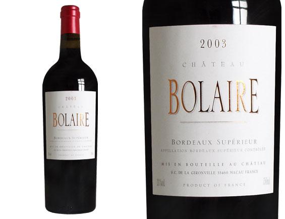 CHÂTEAU BOLAIRE rouge 2004