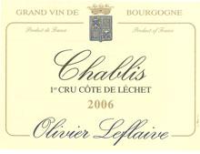 CHABLIS 1er CRU ''CÔTE DE LÉCHET'' 2006 blanc